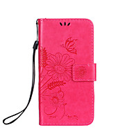 Case For Samsung Galaxy A5(2016) A3(2016) Case Cover Card Holder Wallet with Stand Flip Embossed Full Body Case Butterfly Flower Hard PU Leather