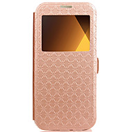 Case For Samsung Galaxy A3(2016) A5(2016) Case Cover Card Holder with Stand Flip Embossed Full Body Case Geometric Pattern Hard PU Leather