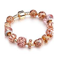 Dames Strand Armbanden Bergkristal Modieus Massief messing Cirkelvorm Ovalen vorm Sieraden Voor Feest Verjaardag Dagelijks gebruik