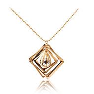 Dames Hangertjes ketting Bergkristal Geometrische vorm Metallic Uniek ontwerp Meetkundig Kwasten Modieus PERSGepersonaliseerd