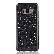 Voor Hoesje cover Doorzichtig Achterkantje hoesje Glitterglans Zacht TPU voor Samsung S8 S8 Plus