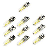 10db t10 autós styling 150lm led szilikon fedél cob filament autó belső fény w5w autó olvasó fényforrás dc12v