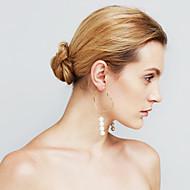 Damskie Kolczyki Ustaw Pearl imitacja Okrąg Modny Osobiste euroamerykańskiej Wyrazista biżuteria Miedź Circle Shape Biżuteria NaEtap