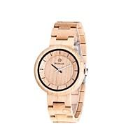 男性用 腕時計 ウッド 日本産 クォーツ 木製 ウッド バンド 創造的 ラグジュアリー エレガント腕時計 アイボリー