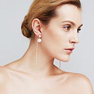 Damskie Kolczyki wiszące sztuczna Diament Modny Osobiste euroamerykańskiej Film Biżuteria Miedź Line Shape Biżuteria NaŚlub Spotkanie