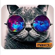 maikou 마우스 패드 고양이 안경 컴퓨터 매트 컴퓨터 액세서리를 착용