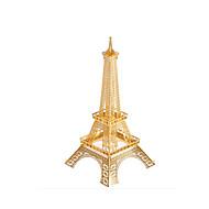 Puzzle Metalowe puzzle Cegiełki DIY Zabawki Wieża Znane budynki Miedź
