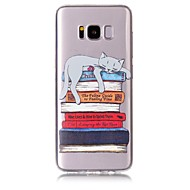 Skrzynka dla samsung galaxy s8 s8 plus okładka książki kota wzór tpu materiał odporny na zarysowania obudowa telefonu reliefowego dla