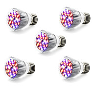 5W E14 GU10 E27 LED Φώτα Καλλιέργειας 28 SMD 5730 800 lm Θερμό Λευκό Άσπρο Κόκκινο Μπλε AC 85-265 V 5 τμχ