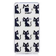 Taske til samsung galaxy a3 (2017) a5 (2017) kuffert katte mønster malet høj penetration tpu materiale imd proces blødt case telefon etui