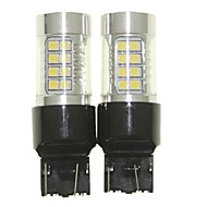 Sencart 2adet 7443 w21 21w w3x16q ampul led araba kuyruk dönüş ters ampul lambaları (beyaz / kırmızı / mavi / sıcak beyaz) (dc / ac9-32v)