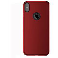 Käyttötarkoitus iPhone X iPhone 8 iPhone 8 Plus kotelot kuoret Himmeä Takakuori Etui Yhtenäinen väri Kova PC varten Apple iPhone X iPhone