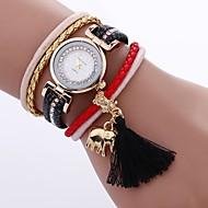 Női Divatos óra Egyedi kreatív Watch Karkötőóra Kínai Kvarc PU Zenekar Bohém Amulett Alkalmi elegáns Fekete Fehér Kék Piros Pink Beige