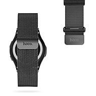 hoco samsung gear s3 watch band ruostumaton teräs milanese loop magneettinen kellon korva 22mm musta&hopea