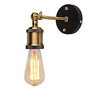 1db modern vintage padlás állítható ipari fém fali lámpa retro sárgaréz fali lámpa vidéki stílusú lámpatest ac80-240v