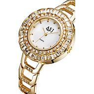 ASJ Damen Modeuhr Armbanduhr Armband-Uhr Japanisch Quartz Legierung Band Silber Gold
