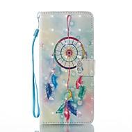 voor case cover kaarthouder portemonnee met standaard flip magnetisch patroon full body case droom catcher hard pu leer voor Samsung