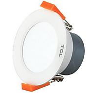 tcl® 1pc 5w led downlight világítás meleg meleg fehér / fehér ac220v méretű lyuk 95mm 4000k / 5700k