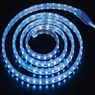 2m 220v higt heldere LED licht strip flexibel 5050 120smd drie kristal waterdicht lichtbalk tuinverlichting met eu stekker