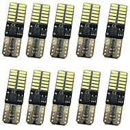 10pcs 12w 1000lm t10 can-bus hatası ücretsiz led ışıkları 3 renk seçici