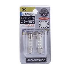 꽃줄 0.12w 8 SMD 차량 장식 / 신호 램프 전구 (12V 흰색 2 팩)