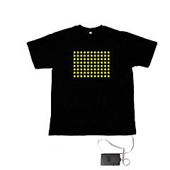 Sound and Music Activated Spectrum VU Meter EL Visualizer T-shirt  (2*AAA)