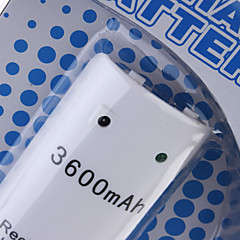 Rechargeable Battery Pack (3600mAh) for Wii/Wii U Remote Controller