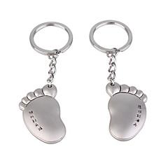 inoxidável chaveiros amantes (pé esquerdo e pé direito / conjunto de 2 peças)