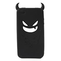 Vrag zaštitna silikagel slučaj za iPhone4 - crna