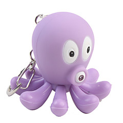 Octopus Keychain with LED Flashlight and Sound Effects, 2 Random Colors