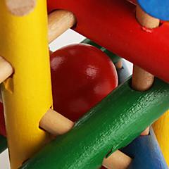 coloré de perles en bois cage du cerveau teaser puzzle de QI jouets