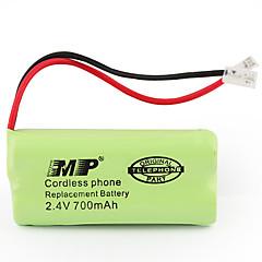 2.4V 700mAh draadloze telefoon vervangende batterij (2 x aa)