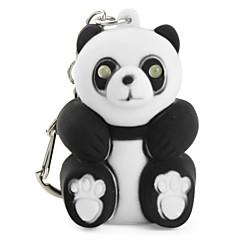 panda breloc cu lanterna LED-uri și efecte sonore (Negru)
