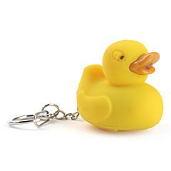 porte-clés avec lampe de poche a conduit canard et des effets sonores (jaune)