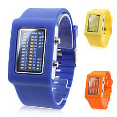 homens e mulheres multifuncional silicone relógio digital de pulso LED com caixa do relógio (cores sortidas)