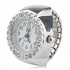 Frauen-Legierung analogen Ring Uhr (silver)