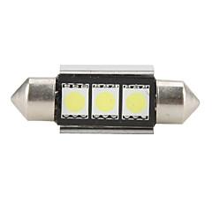 36mm 5050 SMD LED 5500K hvidt lys pære til bil