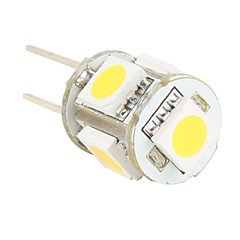 G4 5 SMD LED 50lm lämmin valkoinen lamppu 12v (2-kpl)