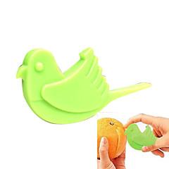 pássaro em forma de laranja fácil emparelhamento descascador
