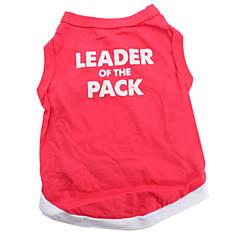 líder de la camisa de algodón pack para perros (rojo, varios tamaños disponibles)