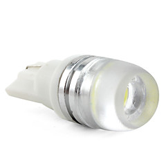 T10 1W High Power 50LM LED White Light Bulb for Car (2pcs)