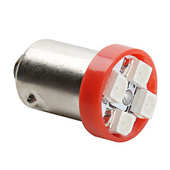 BA9S 3528 SMD 4-LED Red Light Bulb for Car (DC 12V, Set of 4 pcs)