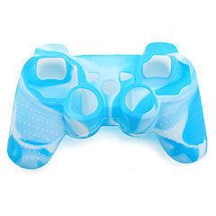 beskyttende dual-color silikon sak for PS3-kontrolleren (blå og hvit)