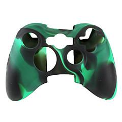 de protección de dos colores Funda de Silicona para mando Xbox 360 (negro y verde)