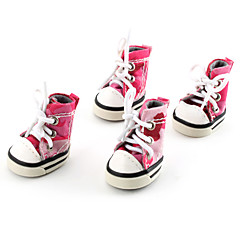 Dog Shoes & Boots Pink Spring/Fall PU Leather