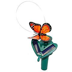 solcelledrevne flying flagrende monark sommerfugl for hageplanter (tilfeldige farger)