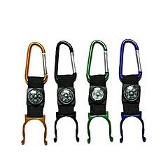 outdoor camping&wandelen fles clip met kompas