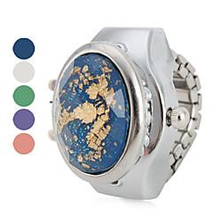kvinnors kristall lysande effekt stil legering analoga kvarts ring klocka (blandade färger)