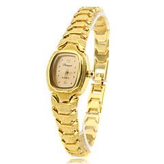 Bayanların Moda Saat Quartz Bant Eski Tip Altın Rengi Marka-