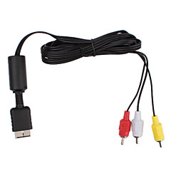 vervanging composiet video en audio av-out kabel voor ps2 (1.85m lengte)